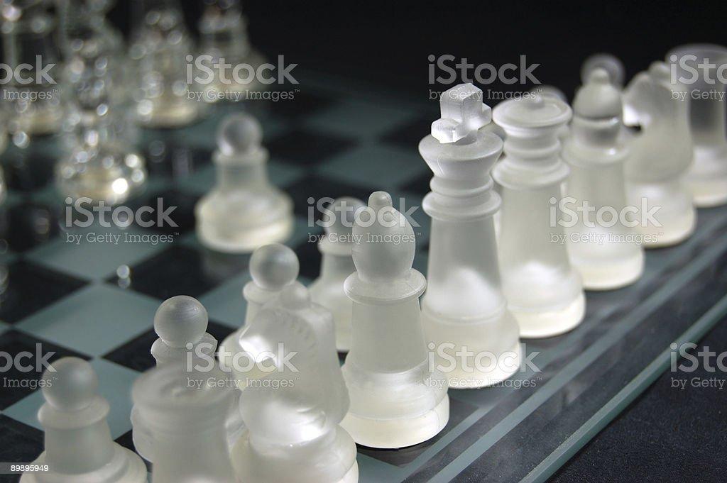Satz von Glas Schach Lizenzfreies stock-foto