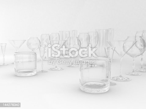istock Set of glasses 144276342