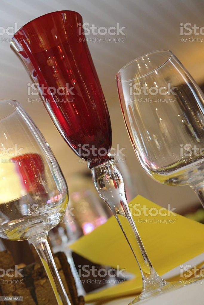 Set of glasses royalty-free stock photo