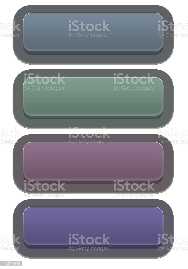 Set of glossy buttons royalty-free stock photo
