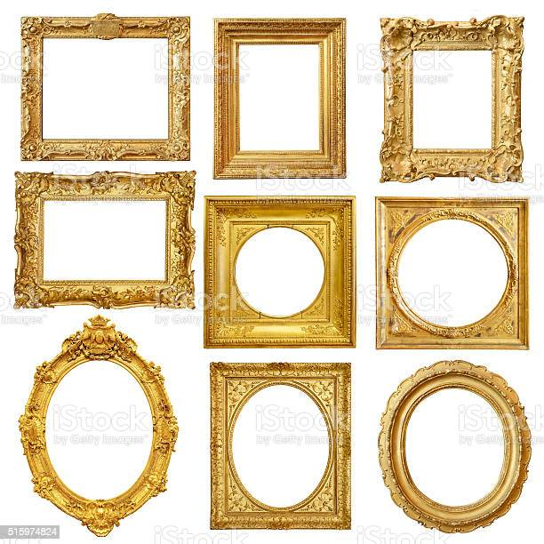 Set of golden vintage frame isolated on white background picture id515974824?b=1&k=6&m=515974824&s=612x612&h=20bd oxs0io8pjea12f45z7 8crgxbfjodrkqs8dzrk=