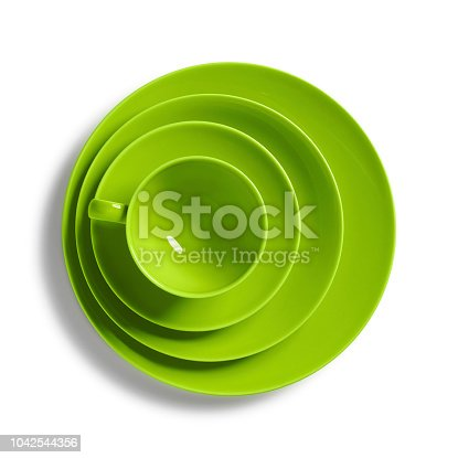 Set of Green colored cup and saucers
