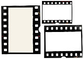 real 35mm film material on white background