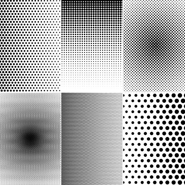 Set of halftone effects - foto de stock