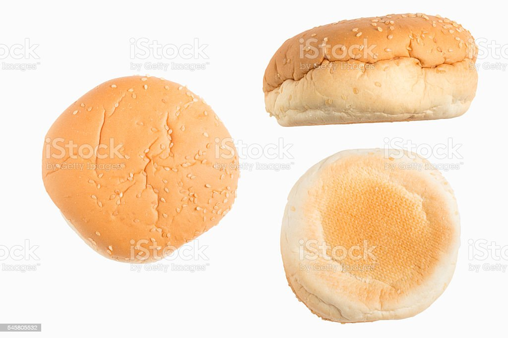Set of hamburger bun stock photo
