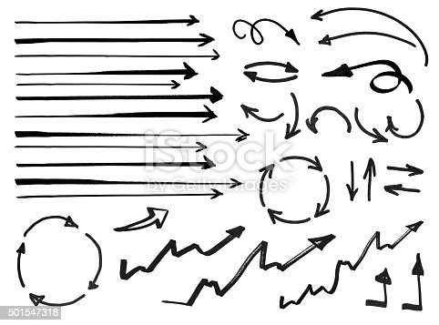 istock Set of hand drawn arrows 501547318