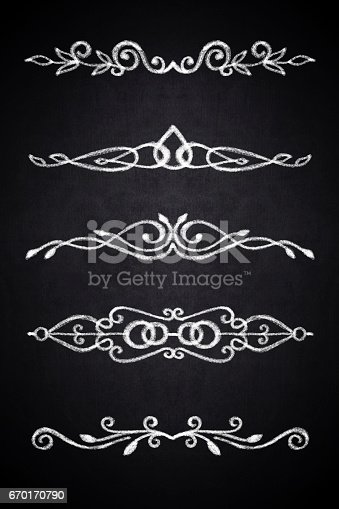 istock Set of hand drawn decorative elements 670170790
