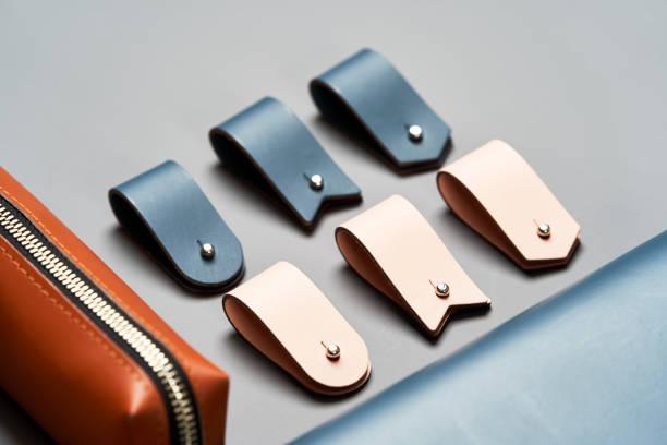 一套手工皮具,鑰匙架戒指,錢包,錢包,記事本,手冊圖像檔