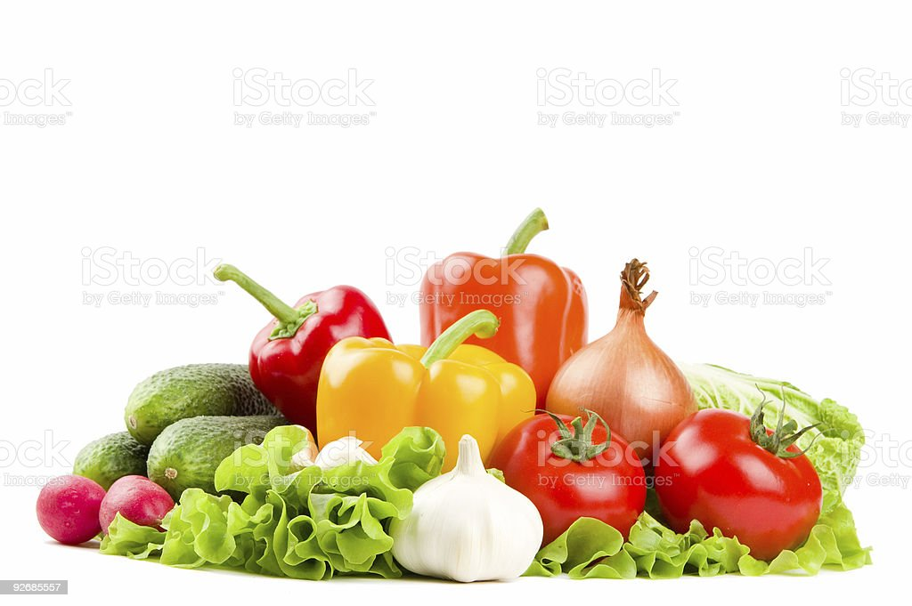 Set of healthy fresh vegetables royalty-free stock photo