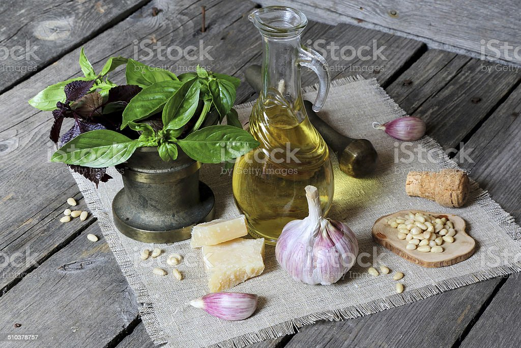 Set of herbs stock photo