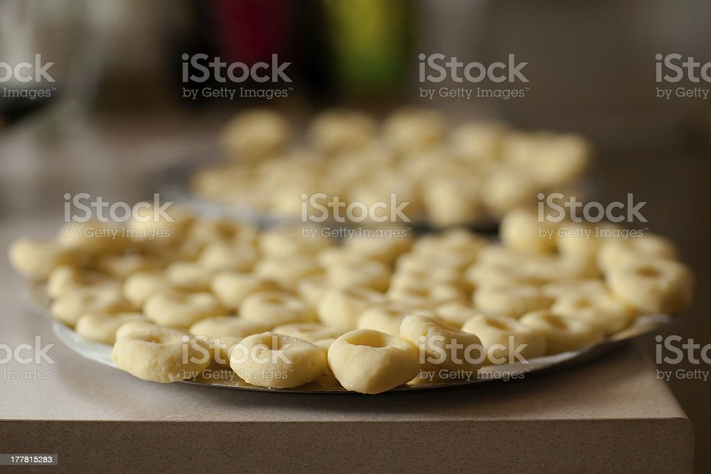 Set of home made silesian noodle royalty-free stock photo