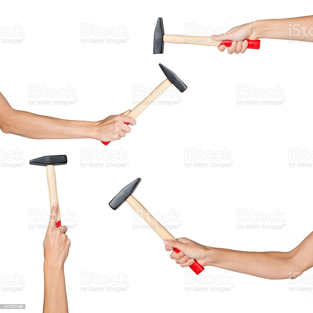 Set of human hands stock photo