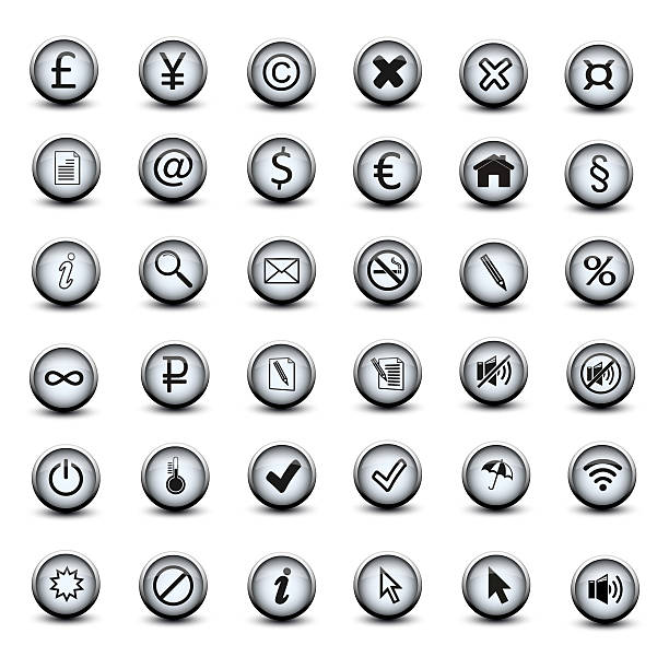 set of icon buttons stock photo