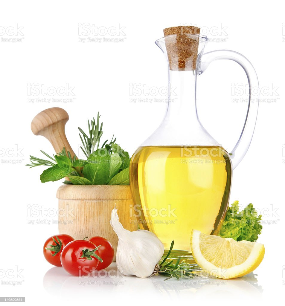 set of ingredients and spice for food cooking stock photo