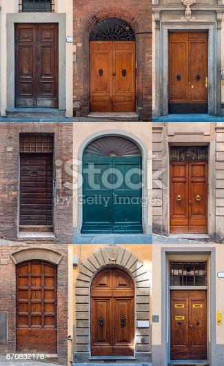 istock Set of Italian doors 870832178