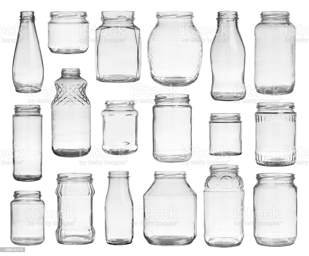Set of jars stock photo