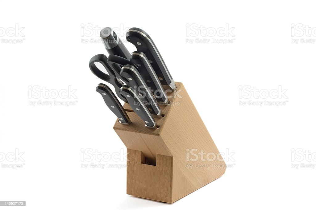 set of kitchen knifes royalty-free stock photo