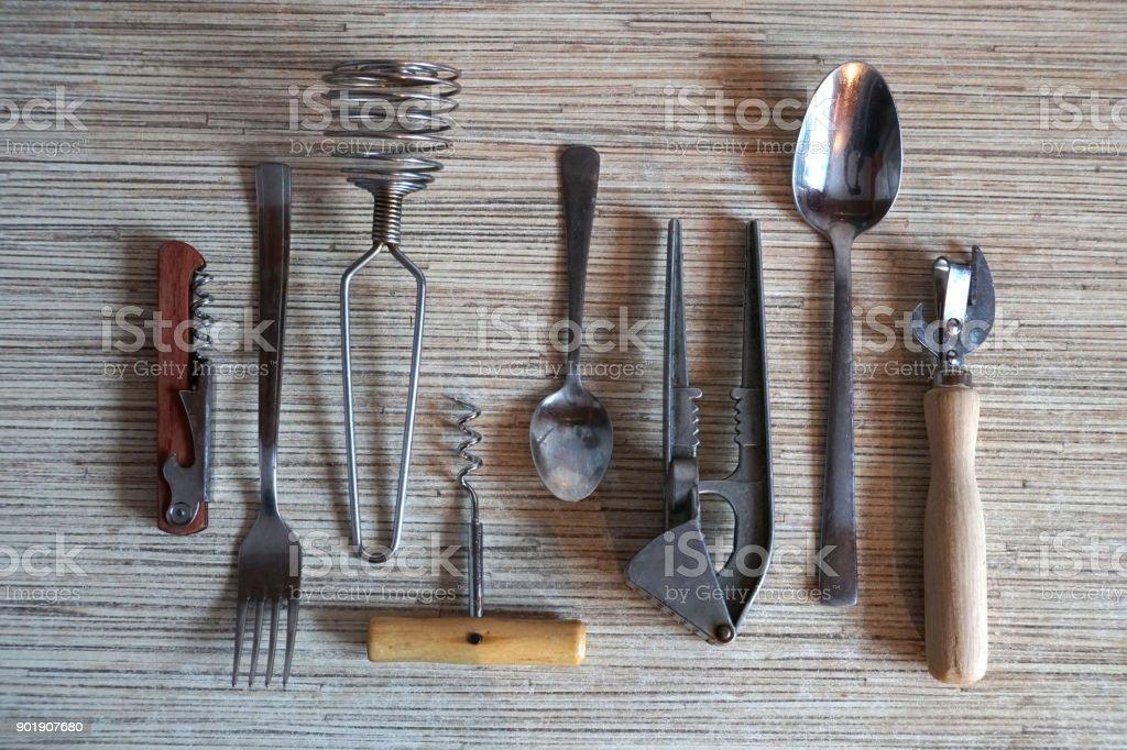 Set of kitchen things stock photo
