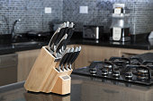 istock Set of knives for kitchen 1127558653
