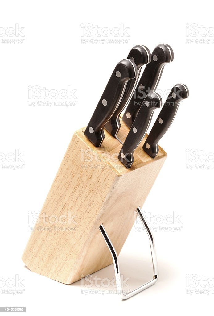 set of knives stock photo