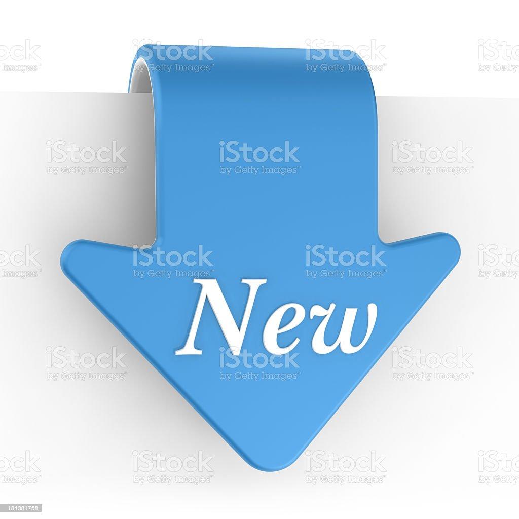 Set of Label - New stock photo