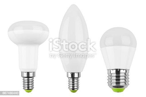 466623283 istock photo Set of LED light bulb (lamp) 667466440