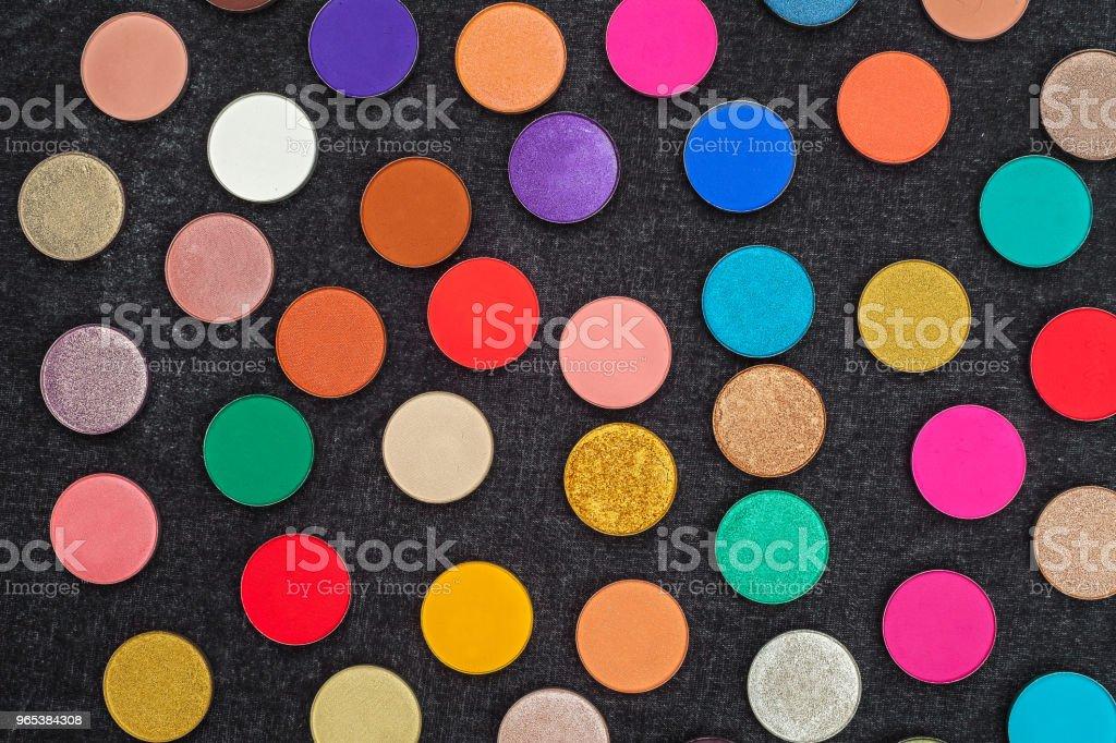set of lots of eyeshadows royalty-free stock photo