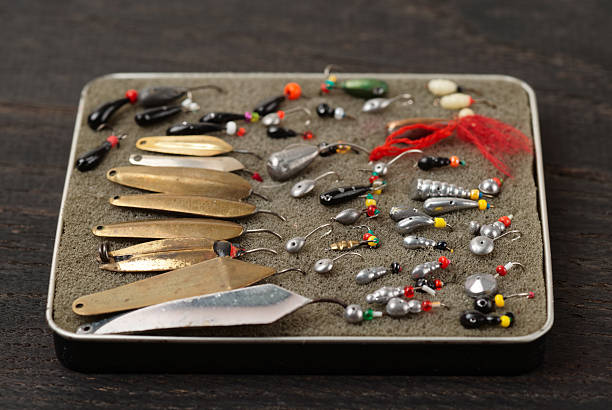 Set of lures for ice fishing - Photo