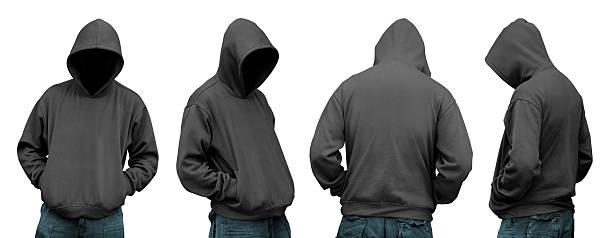 Set of man in hoodie stock photo
