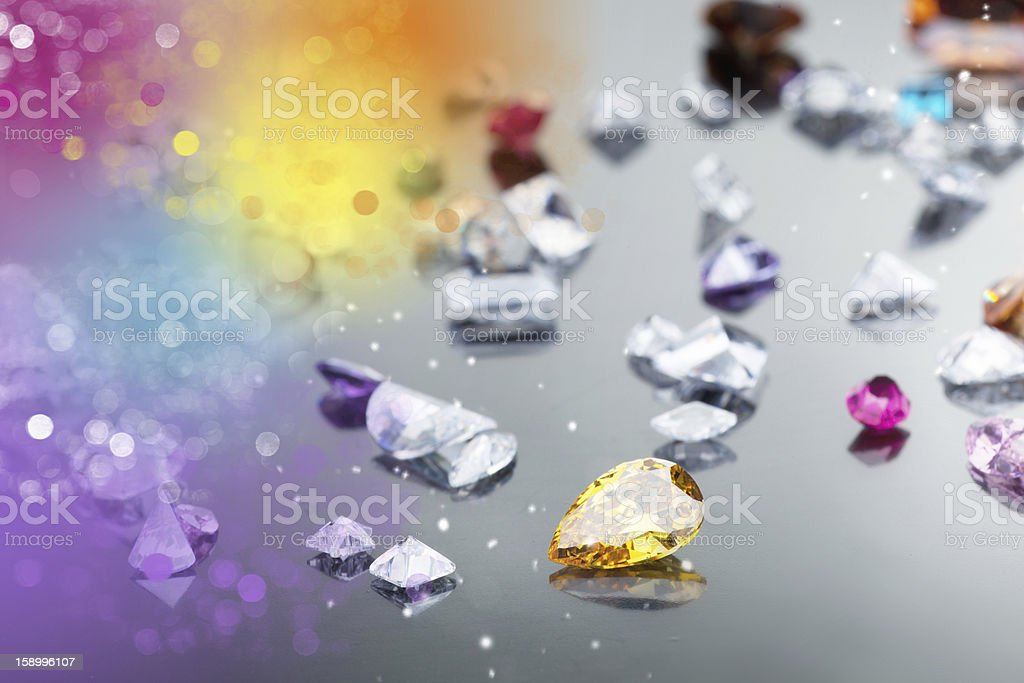 Set of many different gemstone royalty-free stock photo