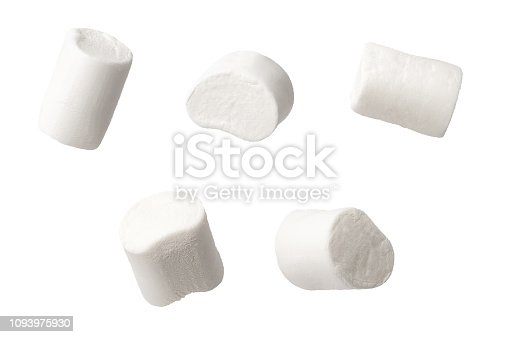 set of marshmallows isolated on white background