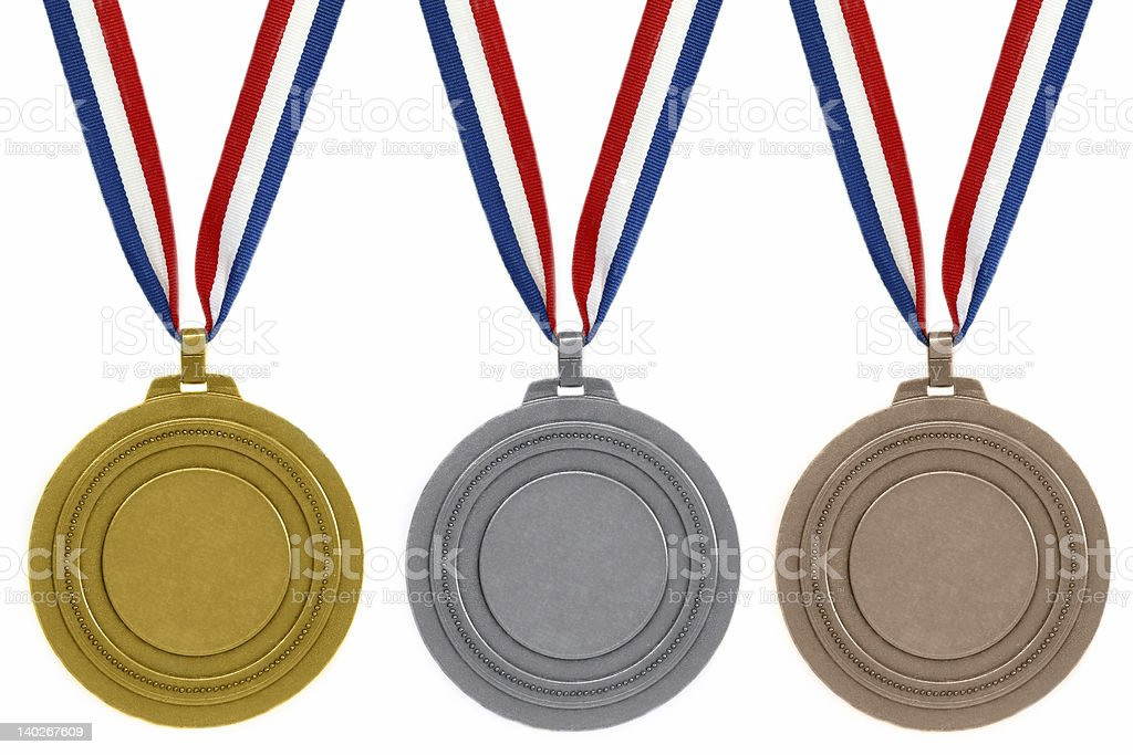 Set of medals stock photo