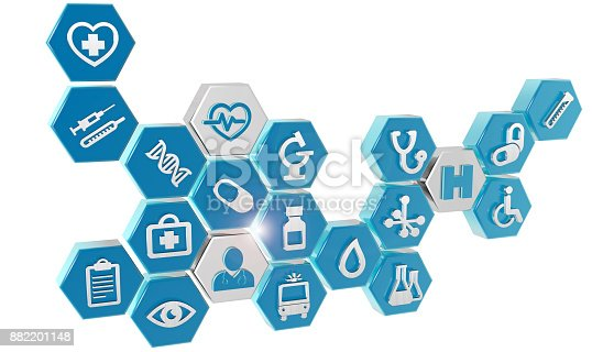 istock set of medical icons on white 882201148