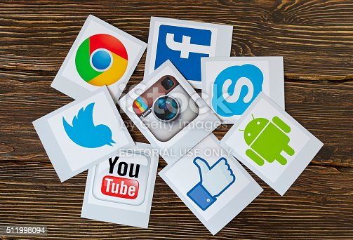 istock Set of most popular social media icons 511998094