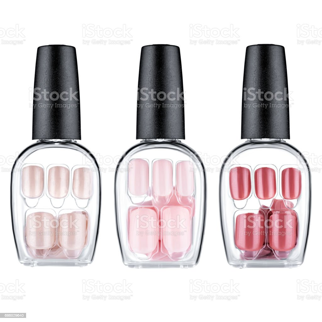 Set van multi-gekleurde valse nagels royalty free stockfoto