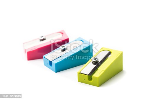 set of multi-colored pencil sharpeners