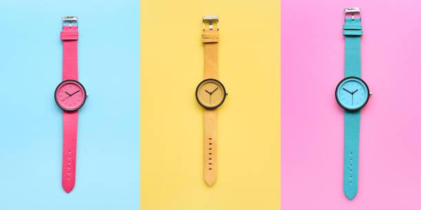 Set of multicolored wristwatches – zdjęcie