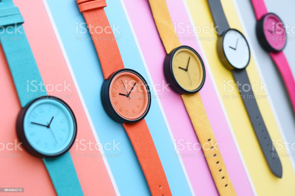 Set of multicolored wristwatches - Royalty-free Beauty Stock Photo