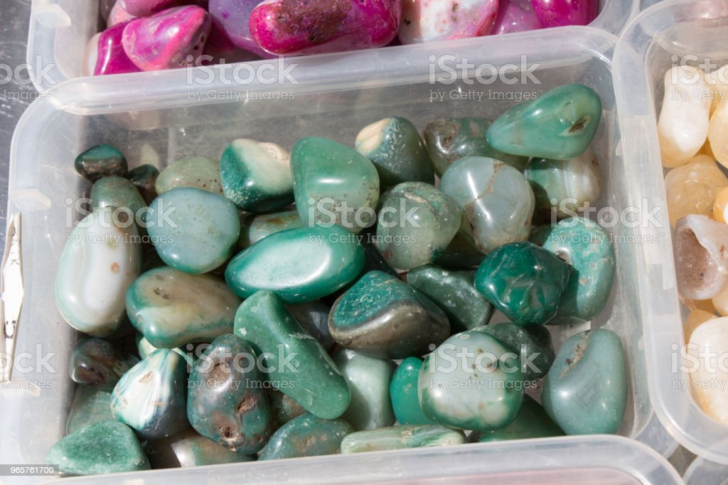 Set of natural mineral gemstones - Royalty-free Backgrounds Stock Photo