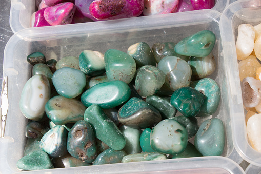 Set Of Natural Mineral Gemstones Stock Photo - Download Image Now