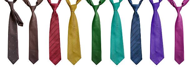 ensemble de cravates - cravate photos et images de collection