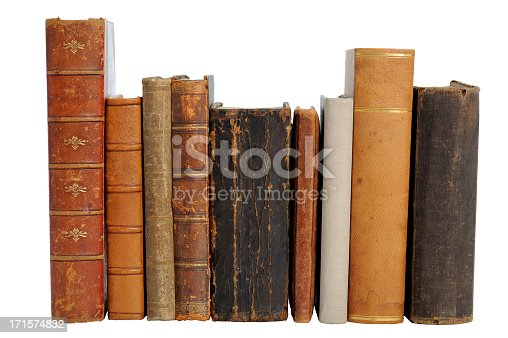 istock A set of nine antique books placed in a row 171574832
