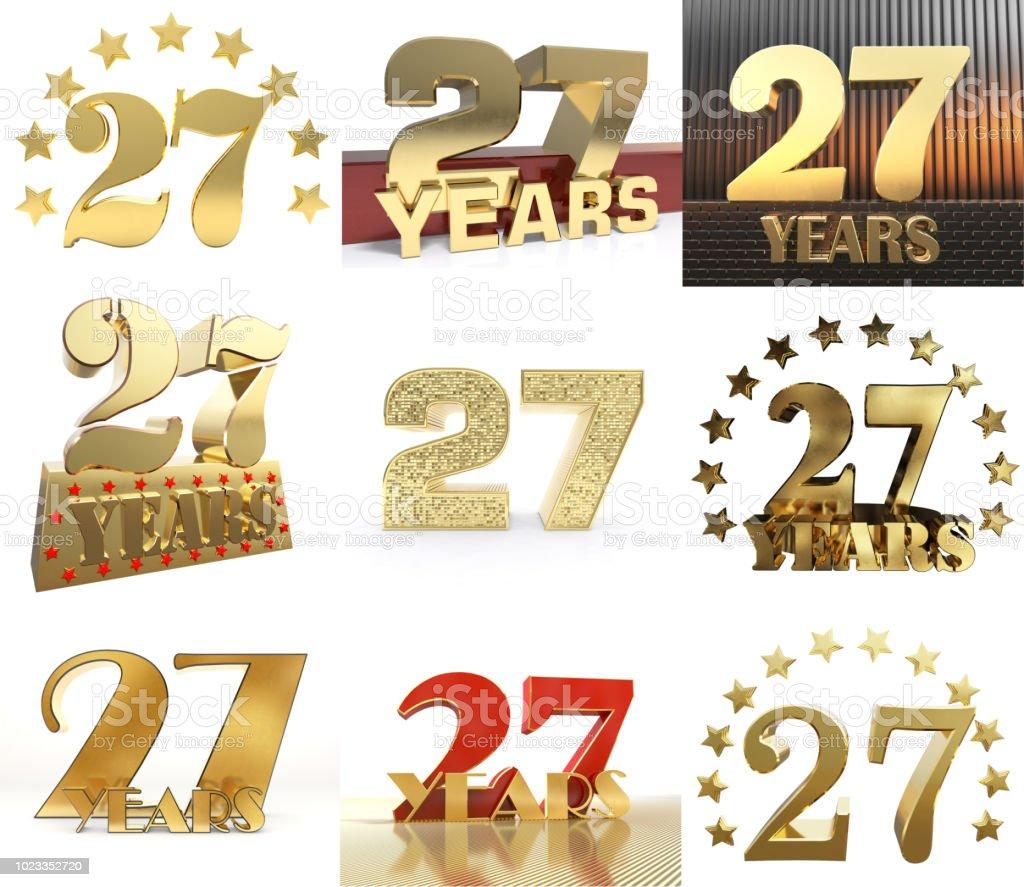 Instellen Van Aantal Zevenentwintig Jaar Viering Ontwerp Verjaardag