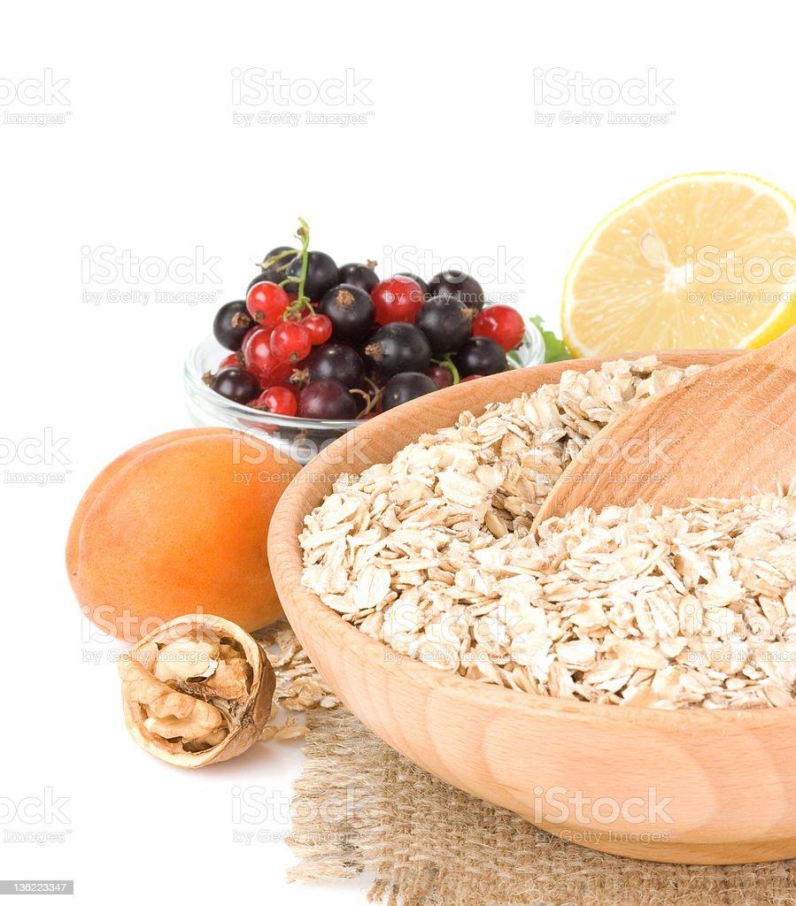 set of oat flake isolated royalty-free stock photo