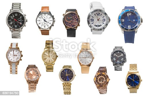istock set of of wristwatches isolated on white background 636194750