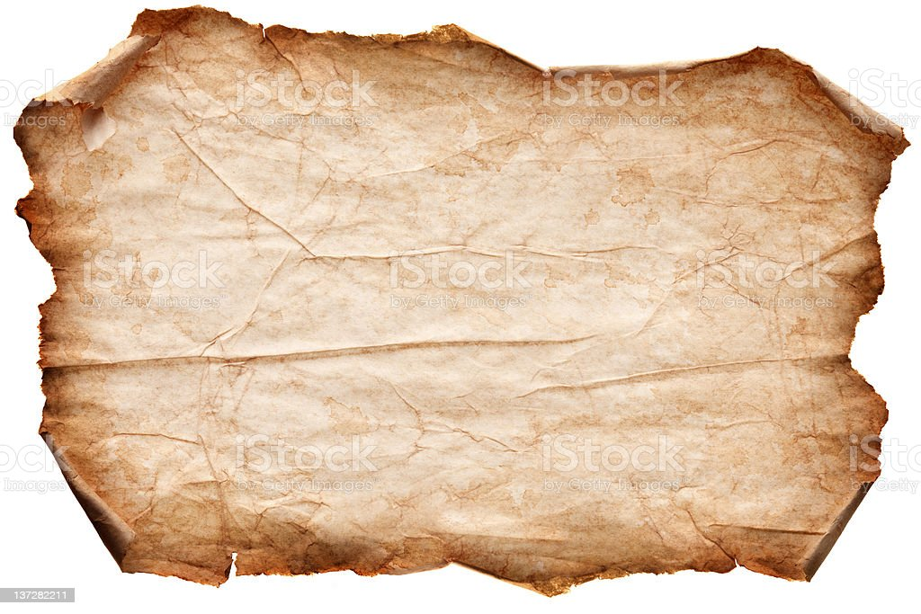 Set of old paper scroll. stock photo