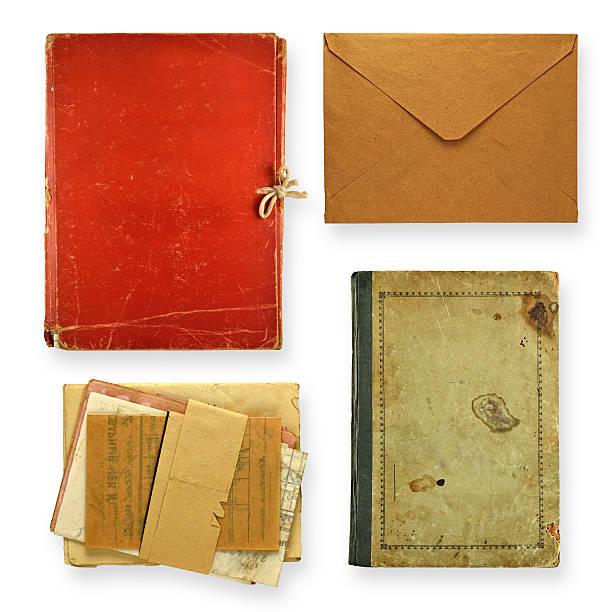 satz der alten papiere - planner inserts stock-fotos und bilder