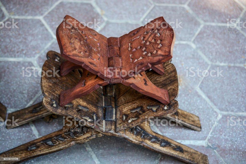 Set of Ottoman  style  wooden lecterns stock photo