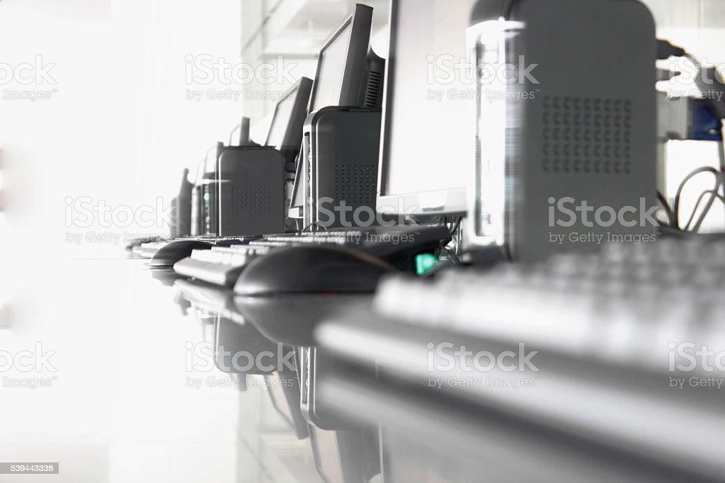 Set of PC Computers stock photo