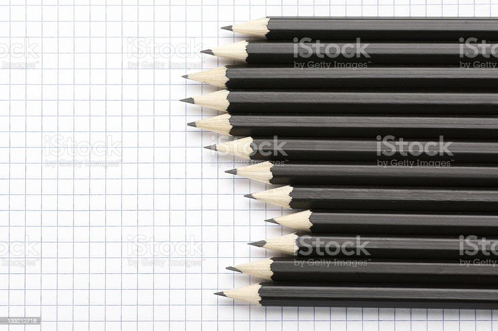 Set of pencils royalty-free stock photo